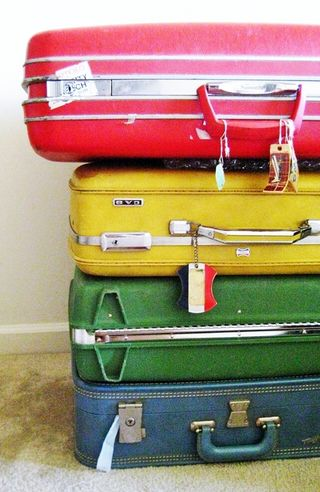 Coloured suitcases