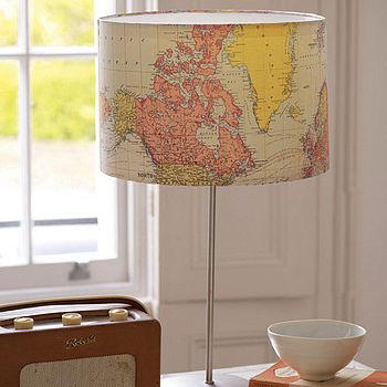 Uk map lamp