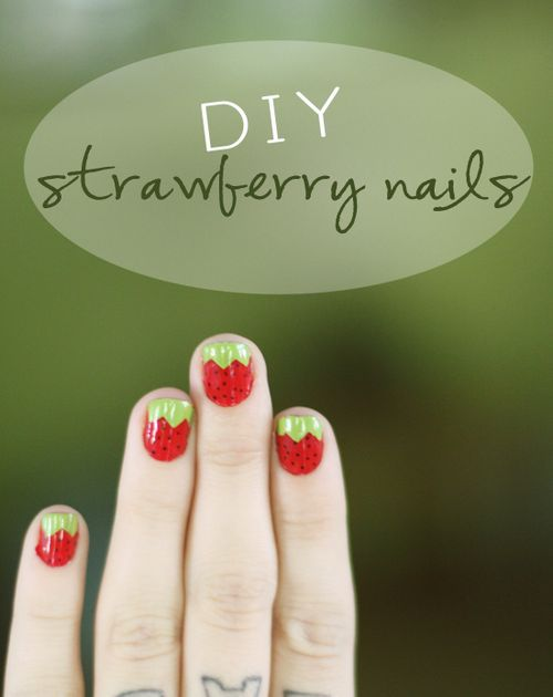 Strawberry nails 1