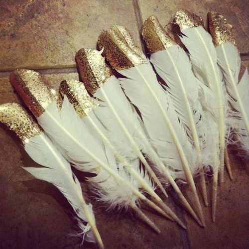 Sparkle feathers