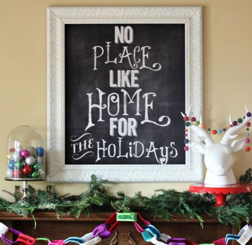 Chalkboard-graphic-for-less-than-5-dollars-my-Christmas-Mantel-550x567