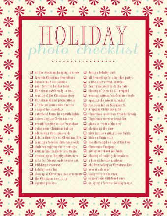 Holidayphotochecklist