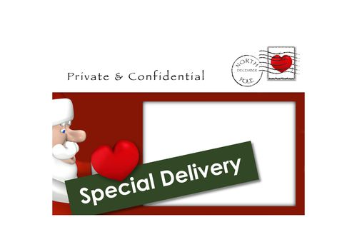 Romantic Envelope with stamp